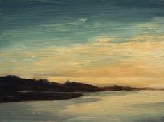 Jenner Horizon I, Original Landscape Oil Painting