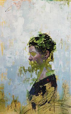 "Imprint No. 17 by John Wentz Oil ~ 32.5"" x 20"""