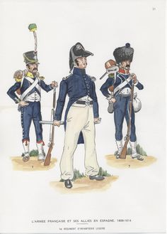 French; 1st Light Infantry, Carabiner, Chasseur & Voltigeur in Spain 1808-14