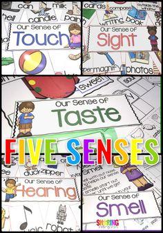Five senses learning activities for preschool and kindergarten