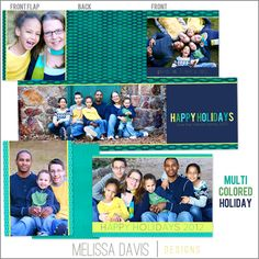 Christmas in July! NEW 2012 Multicolored Holiday template set from Melissa Davis Designs!