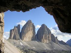 Tre Cime di Lavaredo in northeastern Italy #JetsetterCurator