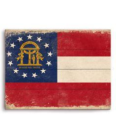 Look at this #zulilyfind! Georgia State Flag Wall Art #zulilyfinds