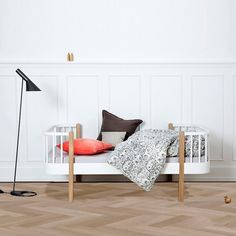 Oliver Furniture Wood Kinder- und Juniorbett 90 x 160 cm, Eiche /...