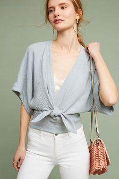 Raeka Tie-Waist Kimono Blouse - UNDER $100