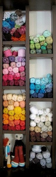 Yarn storage...I seriously need to do this!