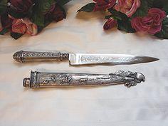 Vintage INOX decorative Gaucho Knife and Sheath Boot Knife by TreasuresPast4U