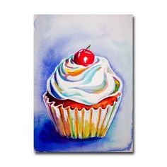 Cupcake Painting ACEO art print by christydekoning on Etsy, $5.00