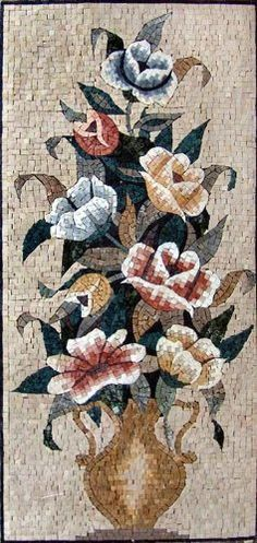 20x44 Awesome Flower Mosaic Art Tile Mural Wall Decor by mozaico. $385.00. Mosaics have endless uses and infinite possibilities! They can be used indoors or outdoors, be part of your kitchen, decorate your bathroom and the bottom of your pools, cover walls and ceilings, or serve as frames for mirrors and paintings.