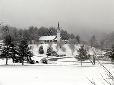 Sky Valley Chapel in winter. Just up the mountain from our cabin.