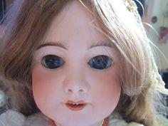 """Antique 24""""  French SFBJ 301 PARIS 11 Doll-Long Human Hair- Crier Works! JUMEAU/"""