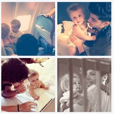 1D with baby Lux. So cute :)