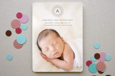 Stylish Rings Birth Announcements by Olivia Raufman at minted.com