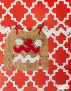 Atta Girl Says | Ugly Christmas Sweater Party Gift Tags | http://www.attagirlsays.com