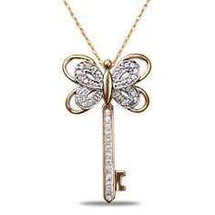 Jet NissoniJewelry presents - Ladies 1/8CT Diamond Key Pendant in 14k Pink  White Gold with Gold Chain    Model Number:AP10124PTT    https://jet.com/product/Ladies-18CT-Diamond-Key-Pendant-in-14k-Pink-White-Gold-with-Gold-Chain/2e74590095954c05b3b1ea50ac479d5a