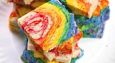 Rainbow Sandwich Loaf  http://rock-ur-party.tablespoon.com/2012/08/15/rainbow-sandwich-loaf/?nicam4=SocialMedia=Facebook=Tablespoon=Post