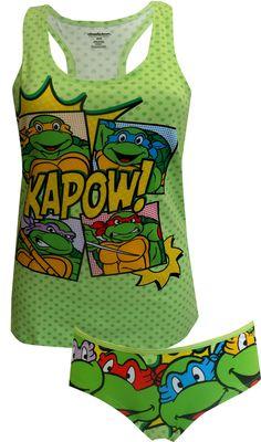 044d3502965b WebUndies.com Teenage Mutant Ninja Turtles Cami Panty Set Girls Pajamas,  Pajamas Women,
