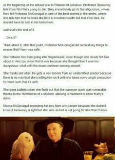 This is why McGonagall protects Harry in Prisoner of Azkaban!