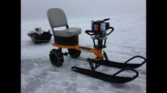 I have created a lightweight, compact, product the uses an ice Auger motor to propel you & your gear forward to your ice fishing spot.