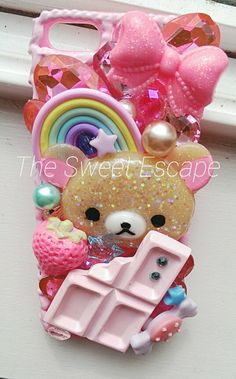Kawaii Pastel  Sparkling Bear IPhone 5 5s Deco Case by lovemia86, $55.00