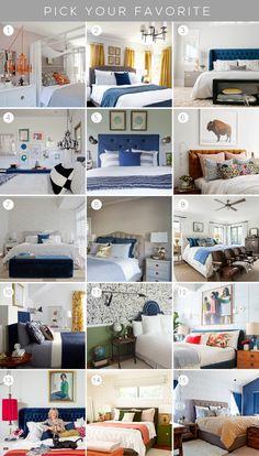 15 bedrooms - You Choose - Emily Henderson Guest Bedroom Decor, Guest Bedrooms, Casa Gilmore Girls, Dream Bedroom, Home Bedroom, Master Bedroom, Living Room White, Home Decor Inspiration, Design Inspiration