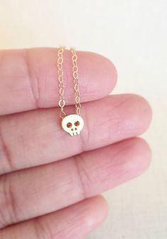 mini skull necklace