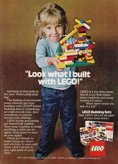 Advertisements, Gender and Toys. Looking back from the contemporary context. Realizing of the evolution of gendered toys in the case of Lego. Lego Vintage, Vintage Ads, Childhood Toys, Childhood Memories, Family Memories, Legos, Lego System, Media Literacy, Toddler Girls