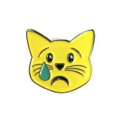 Sad Cat emoji pin