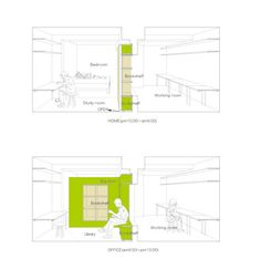 Plan-appartement-Switch-Shibata2 Small Apartments, Small Spaces, Murs Mobiles, Sliding Wall, Compact Living, Module, Living Spaces, Floor Plans, How To Plan