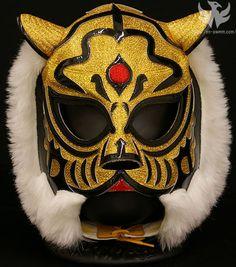 Mask of Tiger Mask Luchador Masks, Wrestling Costumes, Blue Demon, Tiger Mask, Catch, Cosplay Armor, Professional Wrestling, Character Design, Tattoo
