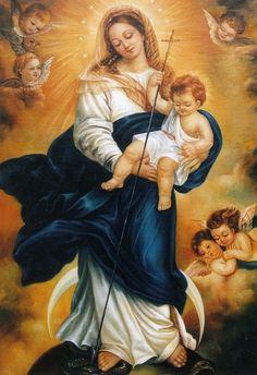 INMACULADA CONCEPCION DE MARIA, Torrijos, Monjas Franciscanas Concepcionistas. Es la mano del Niño -descendencia de María- la que aplasta la cabeza de la Serpiente (Génesis-Apocalipsis)..