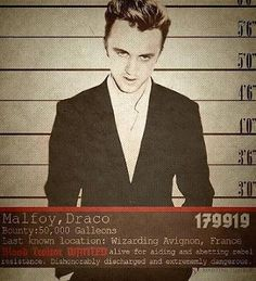 Draco Wanted Poster