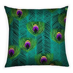 Peacock Feather Decorative Throw Pillow Cover  18 by JanineKingToo, $29.99