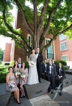Bridal Bliss Wedding: Love the placement of the bridal party! Portland-Wedding-Photography-FritzPhoto-219