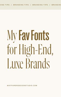 When it comes to conveying the quality and value of your brand, choosing the right fonts is key! Whether it's for your logo or just the copy on your website and promotional materials – the fonts that you use can drastically change how customers perceive your brand. So I wanted to share a few of my favorite fonts that would work well for elevated, refined brands! Click the image above to read more! Typography Fonts, Hand Lettering, Read More, Creative Business, Service Design, Luxury Branding, Wayfarer, Key, Change