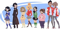 Heathers - Cast by Elemental-FA.deviantart.com on @DeviantArt