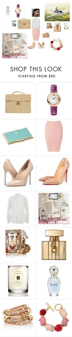 """working"" by lynn0711 on Polyvore featuring Chanel, Cartier, Kate Spade, Lipsy, Massimo Matteo, Polo Ralph Lauren, PBteen, Anna Sui, Gucci and Jo Malone"