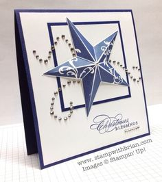 Card by Brian King  (082913)  [Stampin' Up! Christmas Star]  yes, it's a stamp, not a die.   :-)