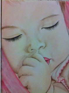 """Bimba"" di Luciana Giaccaglia  Soft Pastels"