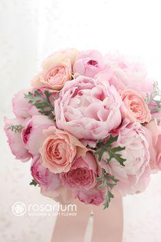 バラと芍薬のブーケ