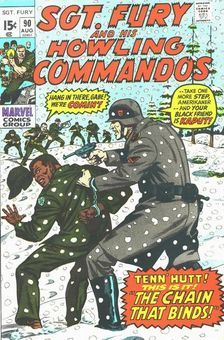 Sgt Fury and his Howling Commandos Vol 1 90 Marvel Comic Books, Marvel Movies, Jim Steranko, Western Comics, War Comics, Nick Fury, Classic Comics, American Comics, Vintage Comics