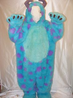 Disney Monsters Inc Sully Sulley Adult Costume Size Small | eBay