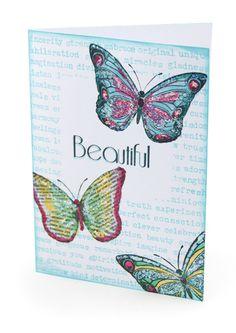 MT414 Beautiful Butterflies Card