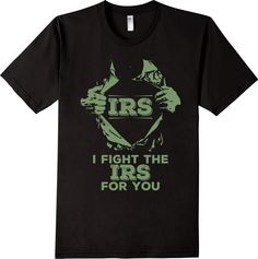 Tax Preparer Fighting IRS during Tax Season Funny T-Shirt