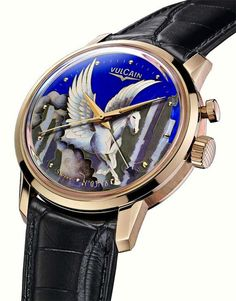 Vulcain 50's President Pegasus Enamel watch