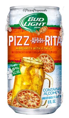 The perfect combination in one drink #budlight #pizzalove  #pizza #beer @budlight