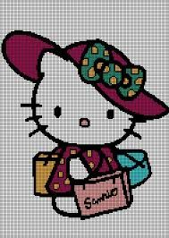 hello kitty cross stitch patterns - Buscar con Google