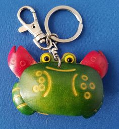 Crab Leather Key Ring Bag Charm Green  fashion  clothing  shoes   accessories  womensaccessories  keychainsringsfinders (ebay link) ec7fb3f6d