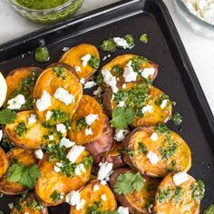 Don't Eat Meat? Chimichurri Is Great on Sweet Potatoes Too! | Brit + Co