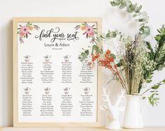 Professionally designed, printable stationery and decor by WeddingFusions Wedding Signs, Diy Wedding, Dream Wedding, Wedding Day, Seating Plan Wedding, Wedding Trends, Wedding Styles, Printable Designs, Alternative Wedding